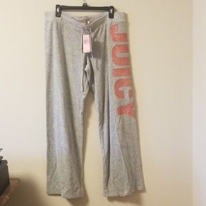 NWT Juicy Couture glitter sweatpants XL